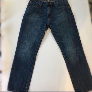 Gap Mens Straight Fit Dark Wash Denim Jeans